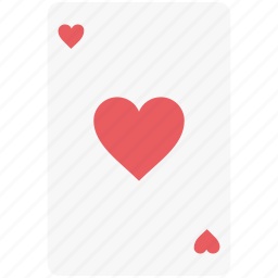 ace of heart, casino, casino card, entertainment, heart card, playing card icon