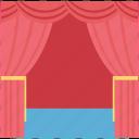 cinema, cinema curtain, cinema hall, curtain, film, movie theater icon