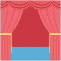 cinema, cinema curtain, cinema hall, curtain, film, movie theater icon