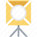 camera, light, light box, media, multimedia, player, spot light icon