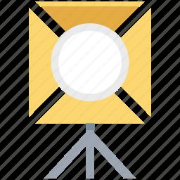 camera, light, light box, media, multimedia, player, spot light icon