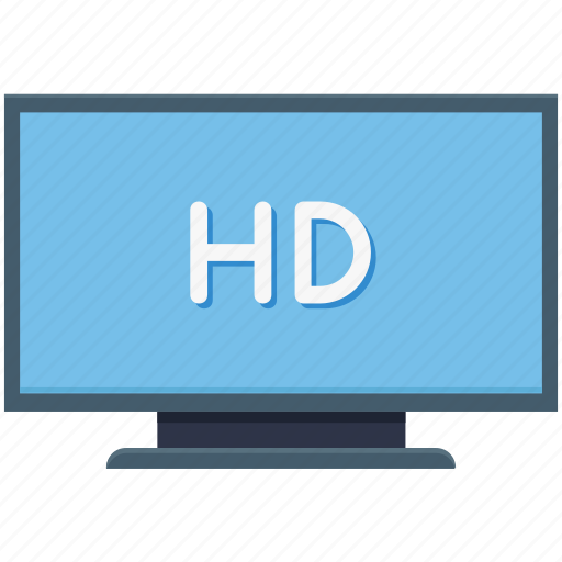 hd, hd file, high definition, monitor, technology icon