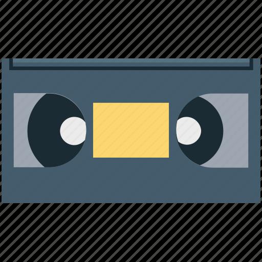 analog cassette, cassette, magnetic tape, video cassette, videotape icon