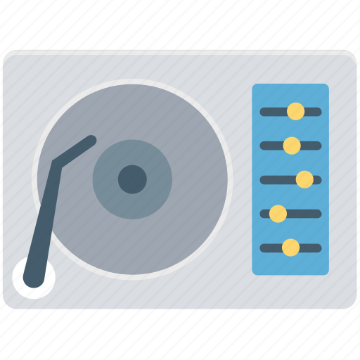 music, player, record, turntable, vinyl, vinyl player icon