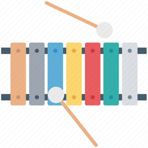 entertainment, multimedia, music, musical instrument, xylophone icon