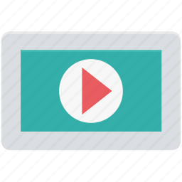 ipad, media, media player, multimedia, online video, player, video player icon