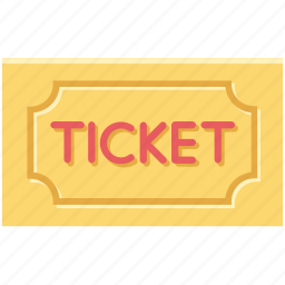 event ticket, museum ticket, pass, theater ticket, ticket icon