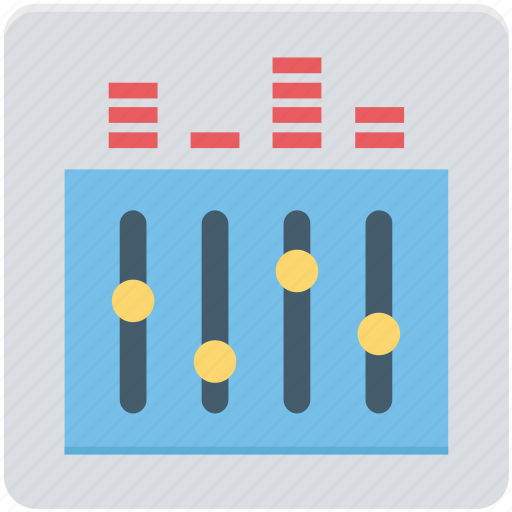 adjuster, audio, equalizer, multimedia, music preferences, sound settings icon