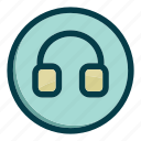 device, earphone, headphone, headphones, music icon