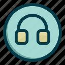 device, earphone, headphone, headphones, music icon