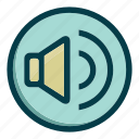 audio, loudspeaker, music, sound, speaker, voice, volume icon