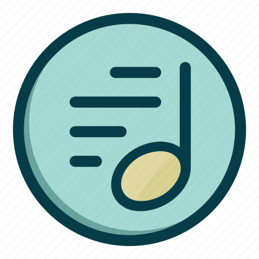 audio, media, music, note, player, sound icon