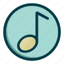 audio, media, multimedia, music, note, sound icon