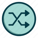 arrows, direction, navigation, reverse, right icon