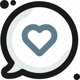 bubble, favorite, heart, like, love, message, multimedia icon
