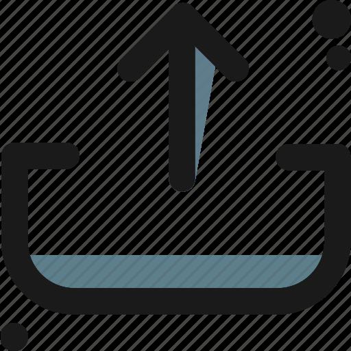 multimedia, up, upload icon