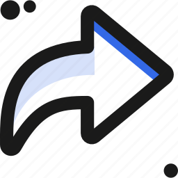 arrow, direction, navigate, point, right icon