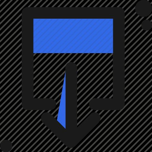 arrow, cloud, download, file icon