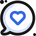 bubble, chat, communication, conversation, heartwriting, message icon