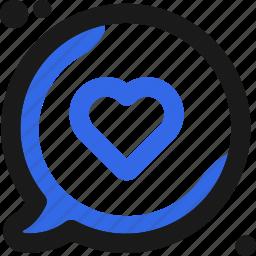 bubble, chat, communication, conversation, heartwriting, message icon