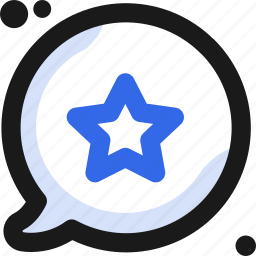 bubble, chat, communication, conversation, message, star, writing icon
