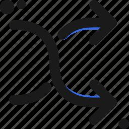 distribution, path, pathways, random icon