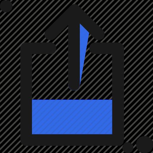 arrow, cloud, file, upload icon