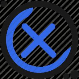 abandon, close, controller, delete icon