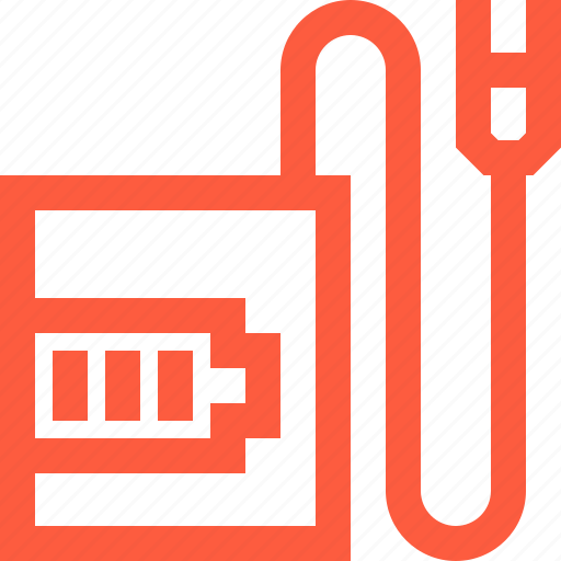 battery, cable, camera, charger, charging, full, level, process icon