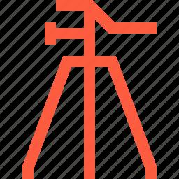 camera, equipment, gear, holder, shearlegs, stand, tripod, trivet icon