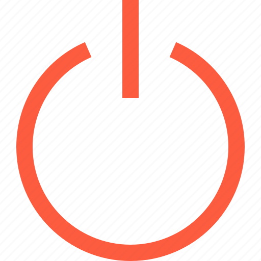 button, multimedia, off, on, power, start, switch, turn icon