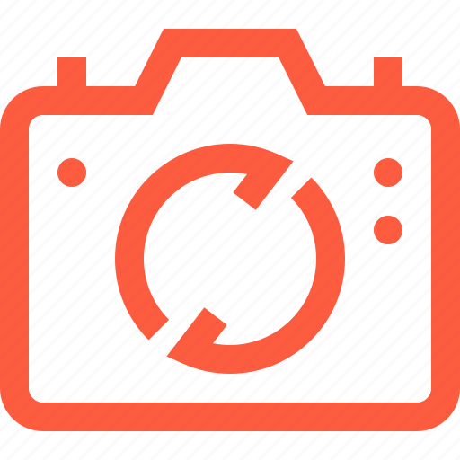 camera, connection, data, multimedia, operation, sync, synchronization icon
