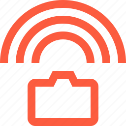 camera, connection, multimedia, signal, sync, wifi, wireless icon