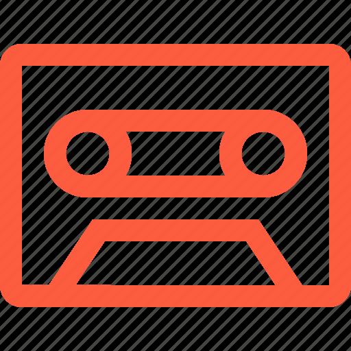 audio, cassette, multimedia, record, retro, tape icon