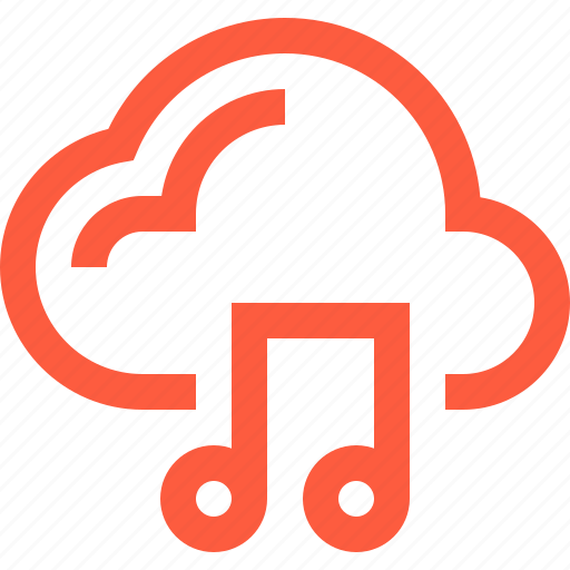 clips, cloud, files, gallery, library, multimedia, music, sound icon