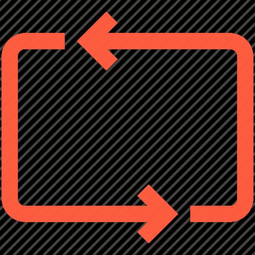 arrows, command, cycle, function, loop, multimedia, repeat icon