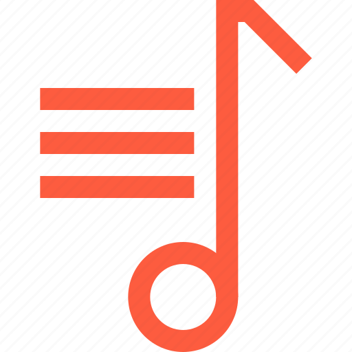 compilation, multimedia, music, note, playlist, selection, tracklist icon