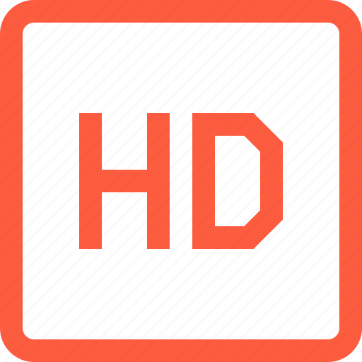 definition, format, hd, high, multimedia, video icon