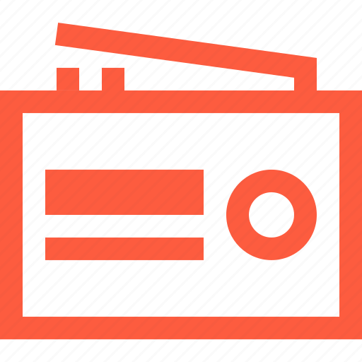 am, fm, program, radio, receiver, speaker, tunning icon