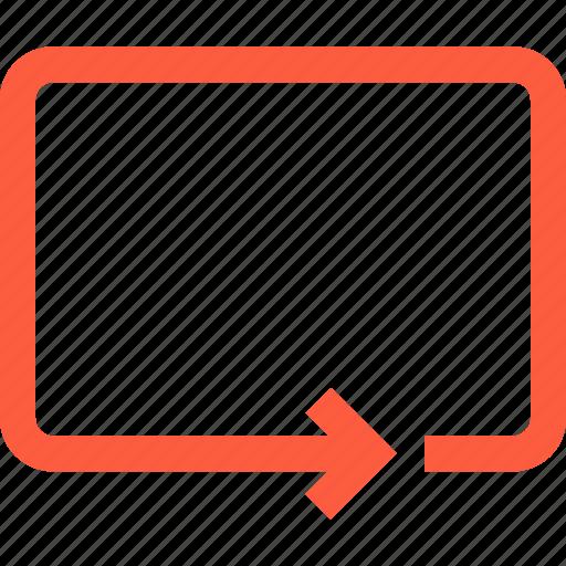 arrow, function, loop, playback, player, repeat icon