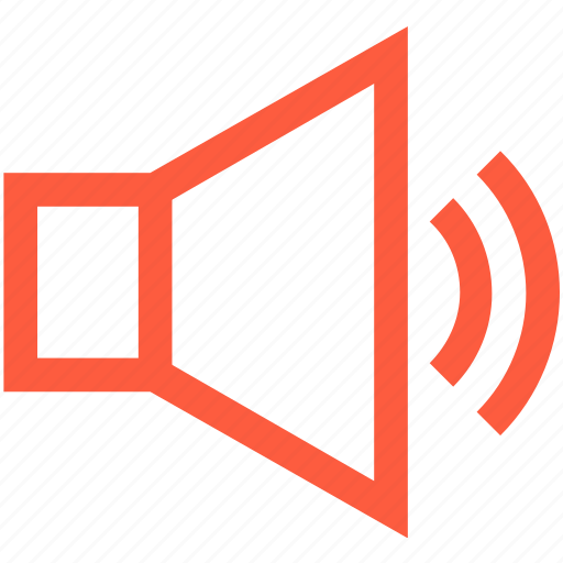 loudspeaker, multimedia, on, play, sound, speaker, volume icon