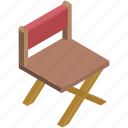 chair, director chair, folding chair, furniture, studio chair icon