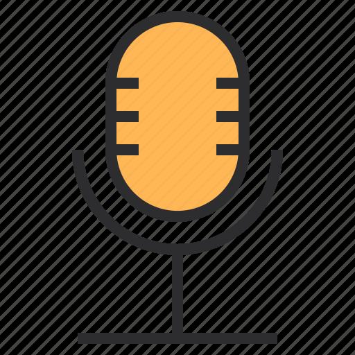 microphone, multimedia icon