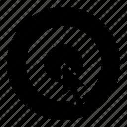 bullseye, cursor, multimedia, pointer, precision, target icon
