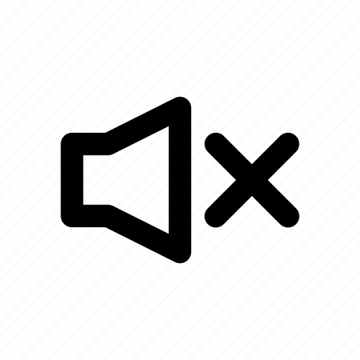 audio, multimedia, mute, no, sound, speaker, volume icon