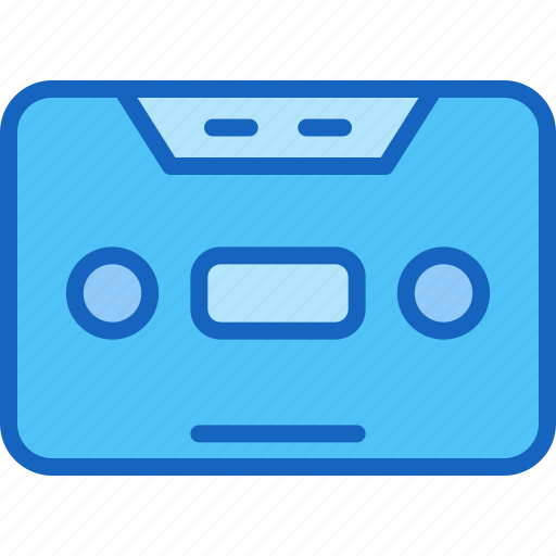 device, entertainment, gadget, multimedia, play, tape icon