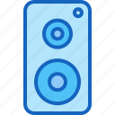 device, entertainment, gadget, multimedia, play, speaker icon