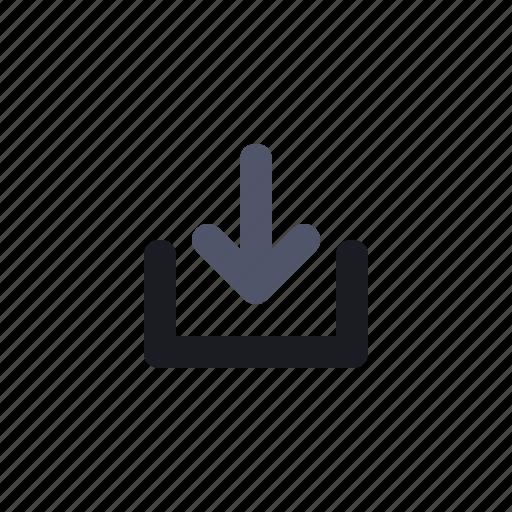 arrow, download, multimedia, navigation icon