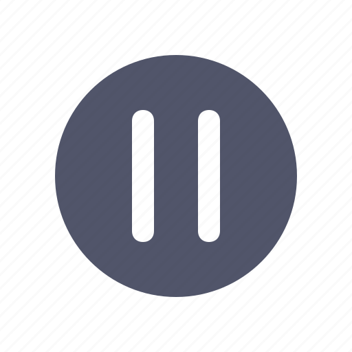 Circle, line, multimedia, music, pause icon - Download on Iconfinder