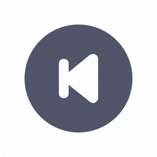 Cirlce, media, multimedia, music, previous icon - Download on Iconfinder